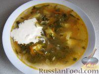 Фото к рецепту: Украинский зеленый борщ