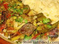 Фото к рецепту: Рагу с печенью и брокколи