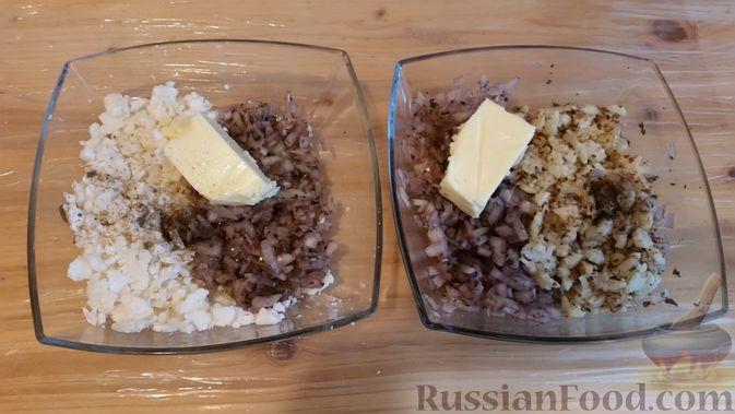 Фото приготовления рецепта: Вегетарианские пельмени с цветной капустой - шаг №5