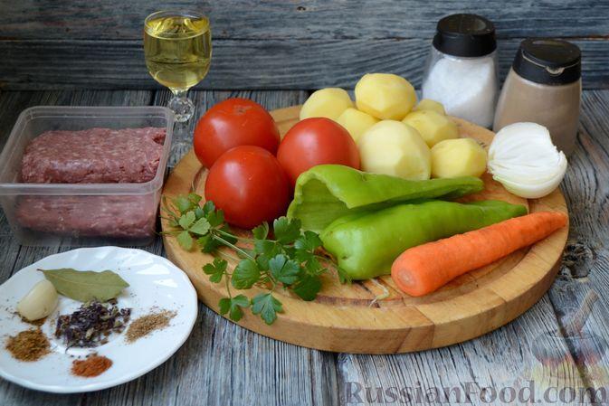 Фото приготовления рецепта: Томатный суп с фаршем - шаг №1