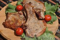 Фото к рецепту: Свиная корейка на кости (на мангале)