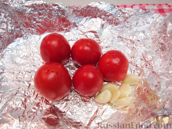 Фото приготовления рецепта: Крем-суп из баклажанов и помидоров с плавленым сыром - шаг №4