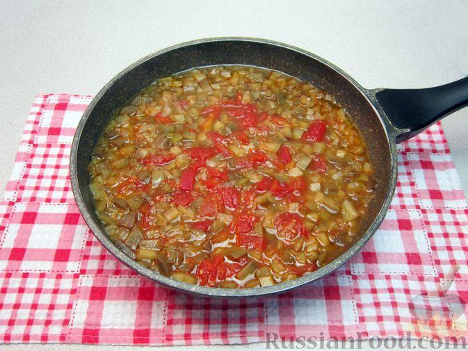 Фото приготовления рецепта: Крем-суп из баклажанов и помидоров с плавленым сыром - шаг №15