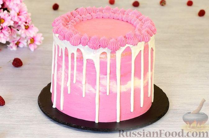 Фото приготовления рецепта: Медовый торт-мусс с малиной - шаг №36