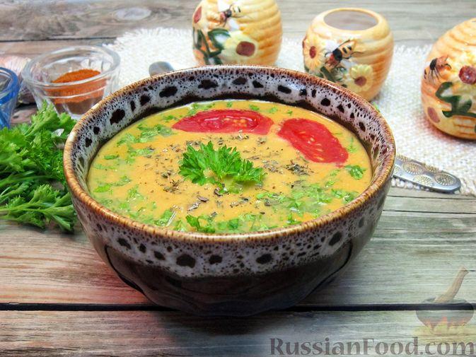 Фото приготовления рецепта: Крем-суп из баклажанов и помидоров с плавленым сыром - шаг №20