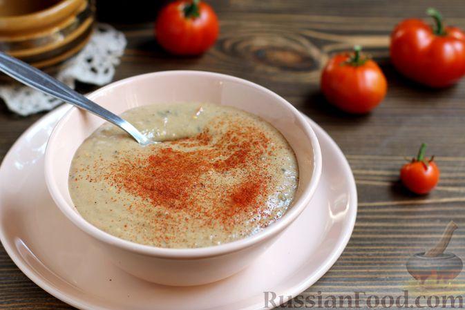 Фото приготовления рецепта: Грибной суп с клецками - шаг №20