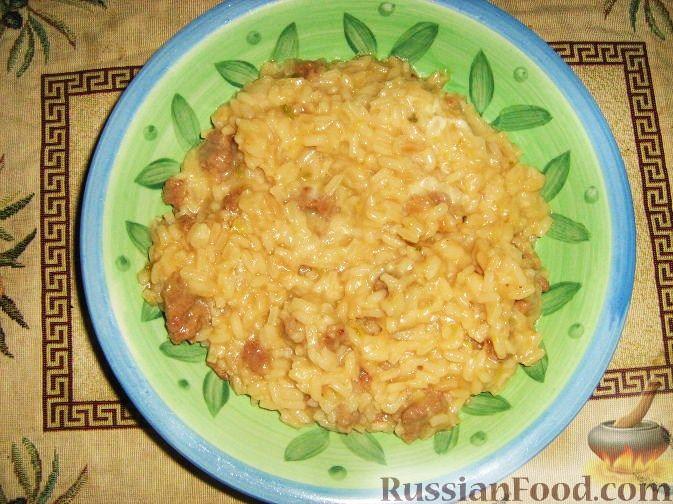 Рецепт Ризотто с домашними колбасками и цуккини