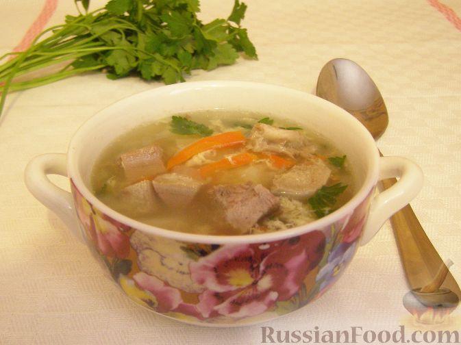 Рецепт Суп гречневый со свиным языком
