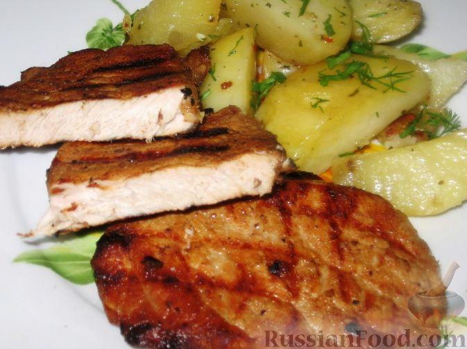 Рецепт Свинина маринованная жареная