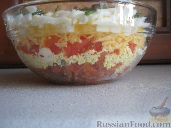 салат из красной рыбы слоями рецепт