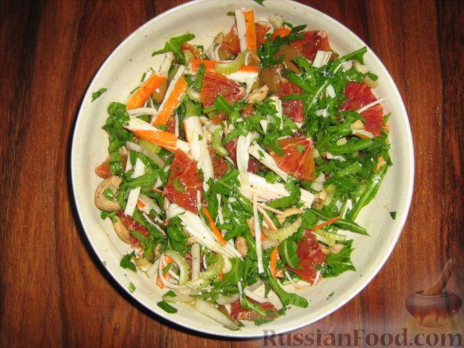 салат королевский рецепт с апельсином и
