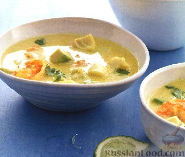 Рецепт Суп из креветок и рыбы