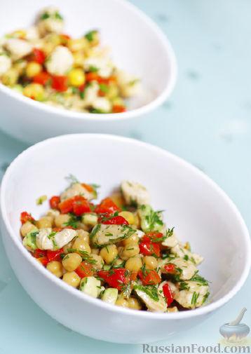 Рецепт Полезный салат с нутом