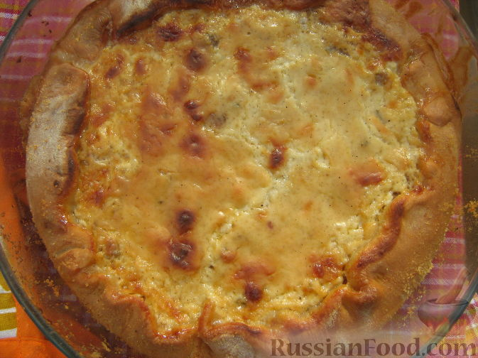 Рецепт Открытый пирог с грибами и домашними колбасками