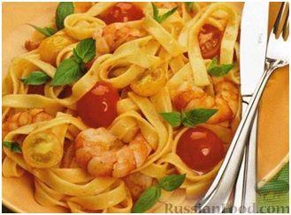 Рецепт Паста с креветками и беконом