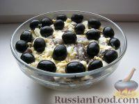 """Фото приготовления рецепта: Салат с грибами """"Неожиданная радость"""" - шаг №10"""