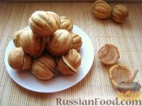 """Фото к рецепту: Печенье """"Орешки"""" со сгущенкой"""