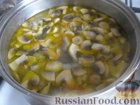 Фото приготовления рецепта: Грибной сливочный суп - шаг №7
