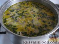 Фото приготовления рецепта: Грибной сливочный суп - шаг №10