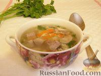 Фото к рецепту: Суп гречневый со свиным языком