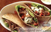 Фото к рецепту: Пита с мясом и овощами