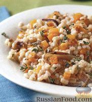 Фото к рецепту: Перловая каша с тыквой и грибами