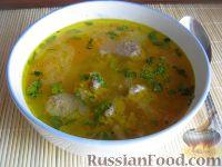 Фото к рецепту: Суп с фрикадельками и рисом