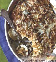 Фото к рецепту: Картофельная запеканка с грибами и репой