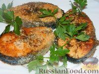 Фото к рецепту: Стейк из семги с кунжутом