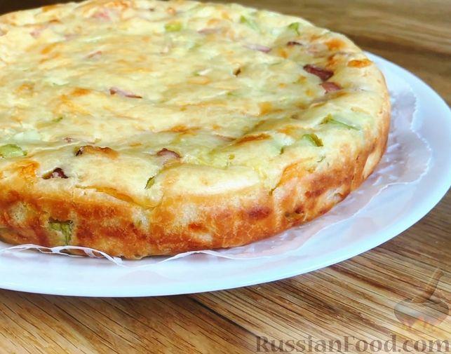 Фото приготовления рецепта: Яблочный тарт с заварным кремом и ореховой корочкой - шаг №25