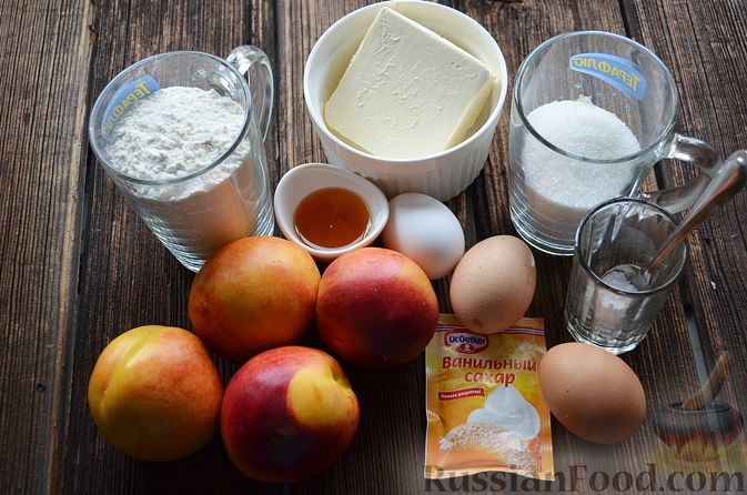 Фото приготовления рецепта: Пирог с нектаринами - шаг №1