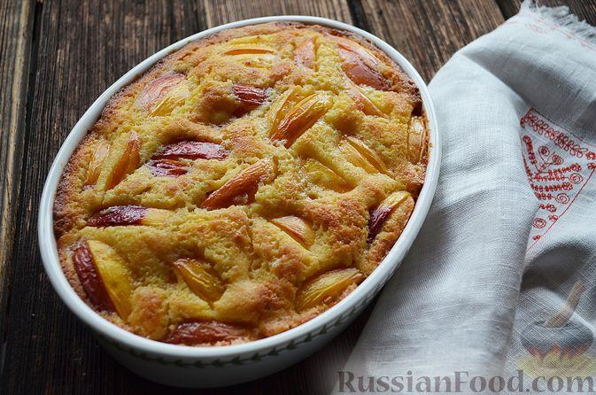 Фото приготовления рецепта: Пирог с нектаринами - шаг №12