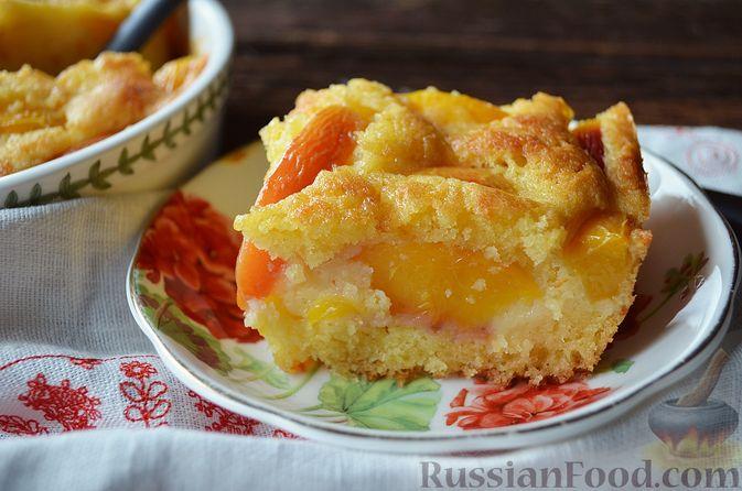 Фото приготовления рецепта: Пирог с нектаринами - шаг №13
