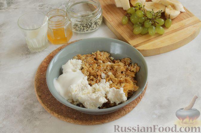 Фото приготовления рецепта: Жареная овсянка с яйцом - шаг №6