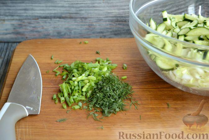 Фото приготовления рецепта: Хлебный омлет с ветчиной, помидорами и сыром - шаг №10