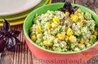 Фото к рецепту: Салат из цветной капусты с кукурузой и красным луком