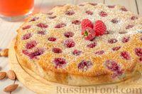 Фото к рецепту: Пирог с малиной и миндалем