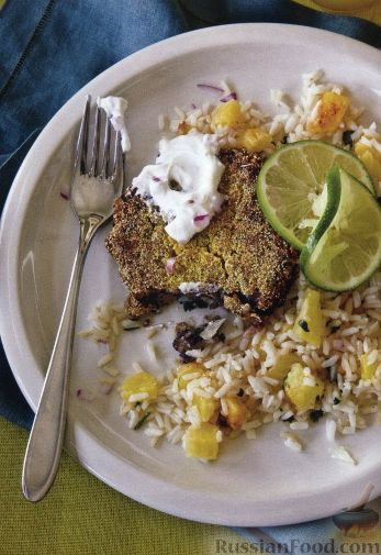 Рецепт Рис с ананасом и фасолевыми котлетами