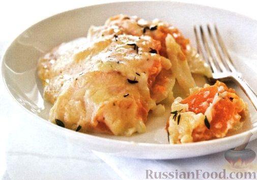 Рецепт Гратен из картофеля, цуккини и батата