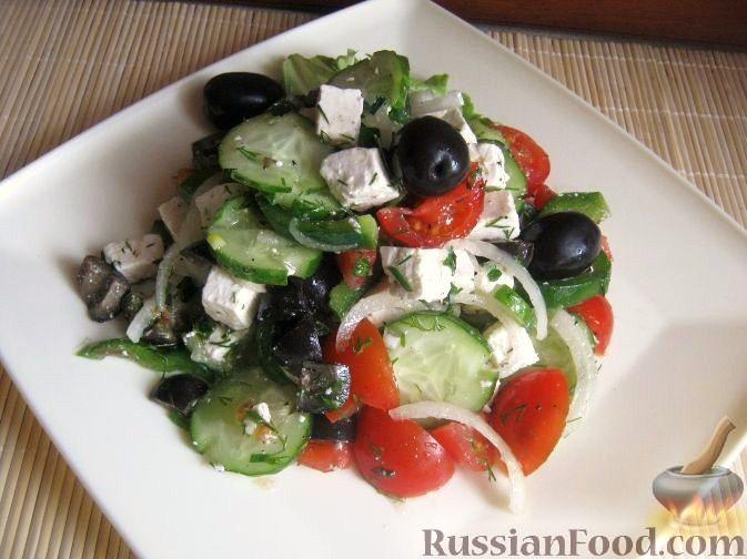 "Рецепт Салат ""Греческий"" с брынзой"
