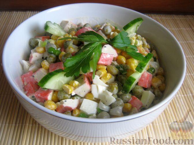 Рецепт Классический салат из крабовых палочек