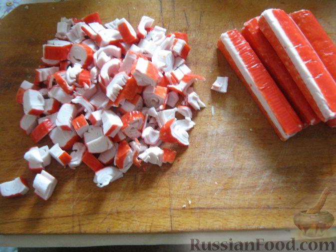 салат с крабовыми палочками рецепт классический с фото