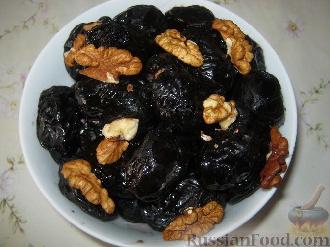 Рецепт Чернослив, фаршированный грецкими орехами