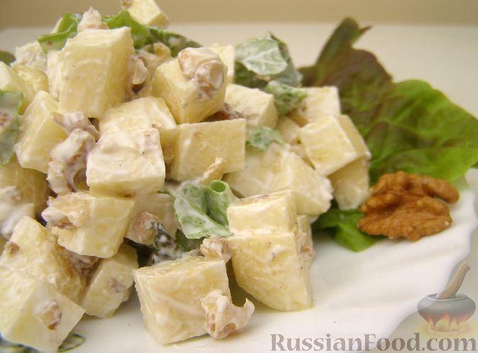 рецепт салата из яблок