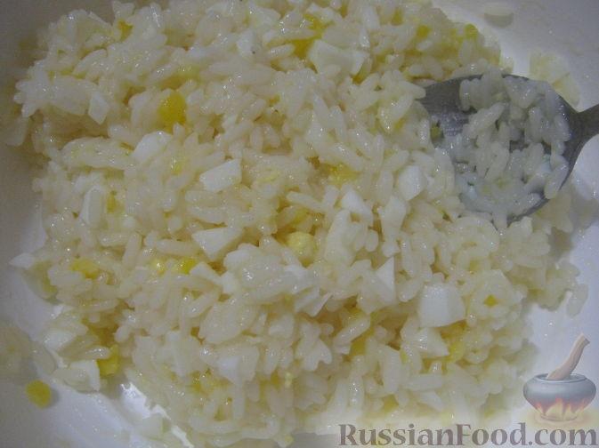рецепт начинка для пирожков с рисом и яйцом