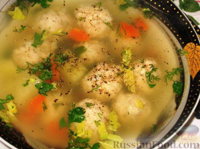 Рецепт Суп с рыбными фрикадельками