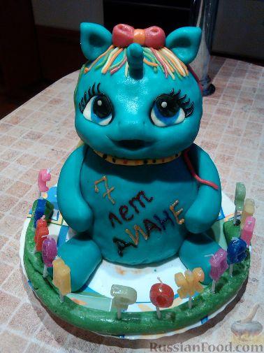 пони радуга фото торт