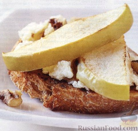 Рецепт Чудо-бутерброд с козьим сыром и яблоками