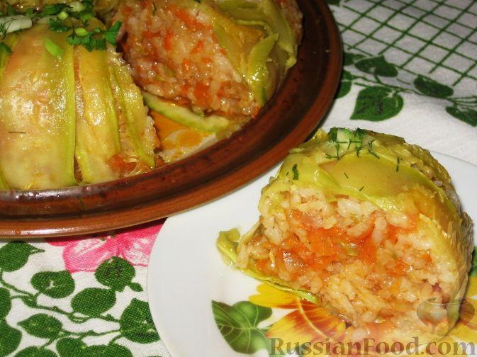 Запеканка из риса и кабачков в духовке рецепты