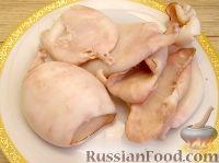 Фото приготовления рецепта: Кальмары, фаршированные крабовым салатом - шаг №1